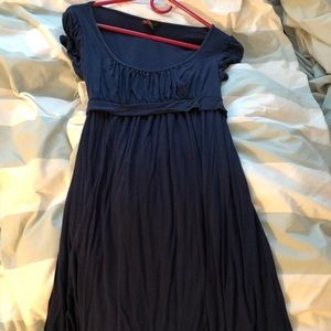 Navy Forever 21 babydoll dress